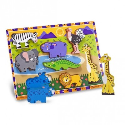 M&D lesene puzzle - Safari |8 kos|