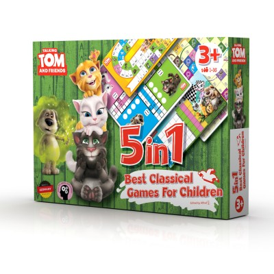 Talking tom and Friends set društvenih igara 5 u 1