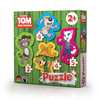 TALKING TOM AND FRIENDS PUZZLE 4 x TOM IN PRIJATELJI