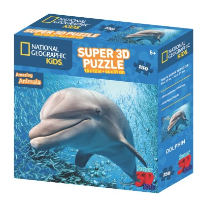 PUZZLE 3D - DUPIN 150 KOM 46x31cm NAT.GEOGRAPHIC KIDS