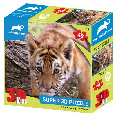 PUZZLE 3D - TIGAR 48 KOM 31x23cm ANIMAL PLANET