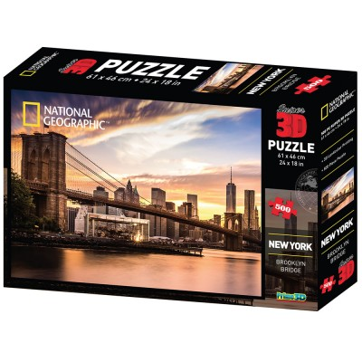 PUZZLE 3D - NEW YORK 500 KOM 61x46cm NAT.GEOGRAPHIC