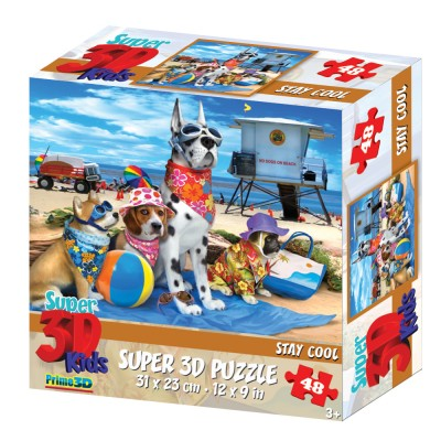 PUZZLE 3D - STAY COOL 48 KOM 31x23cm