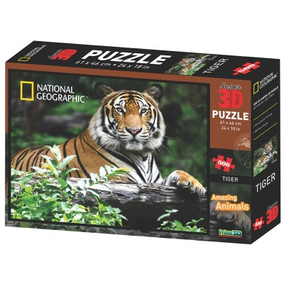 PUZZLE 3D - SIBIRSKI TIGAR 500  KOM 61x46cm DISCOVERY