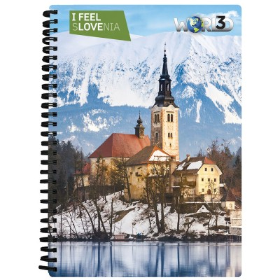 3D NOTEBOOK A5 80L - BLED I FEEL SLOVENIA