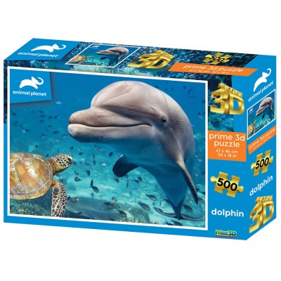 PUZZLE 3D - DELFIN 500 KOM 61x46cm ANIMAL PLANET