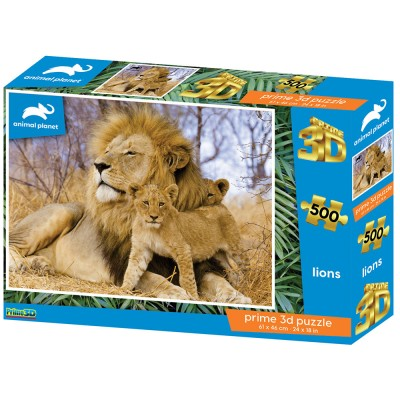 PUZZLE 3D - LAVOVI 500 KOM 61x46cm ANIMAL PLANET